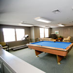 Pool table in the Community Room